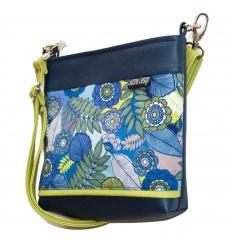 Kabelka Midi Teri Modrý květ