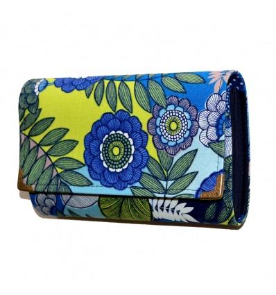 Peněženka Modrý květ 16cm